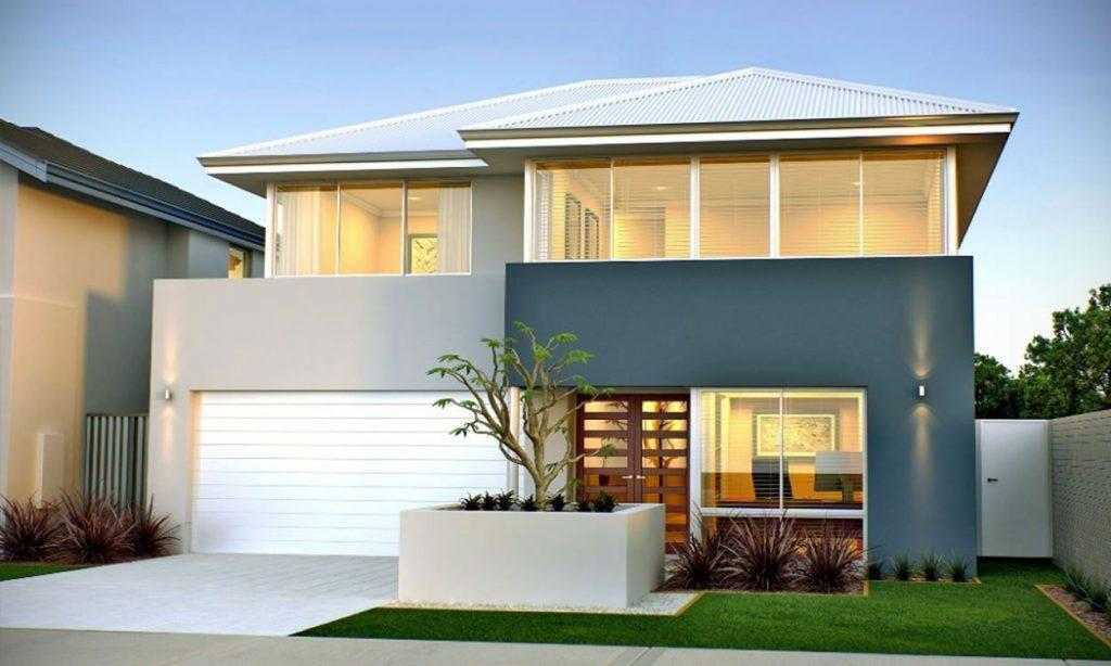 Narrow lot homes two storey home designs 2 storey narrow lot homes