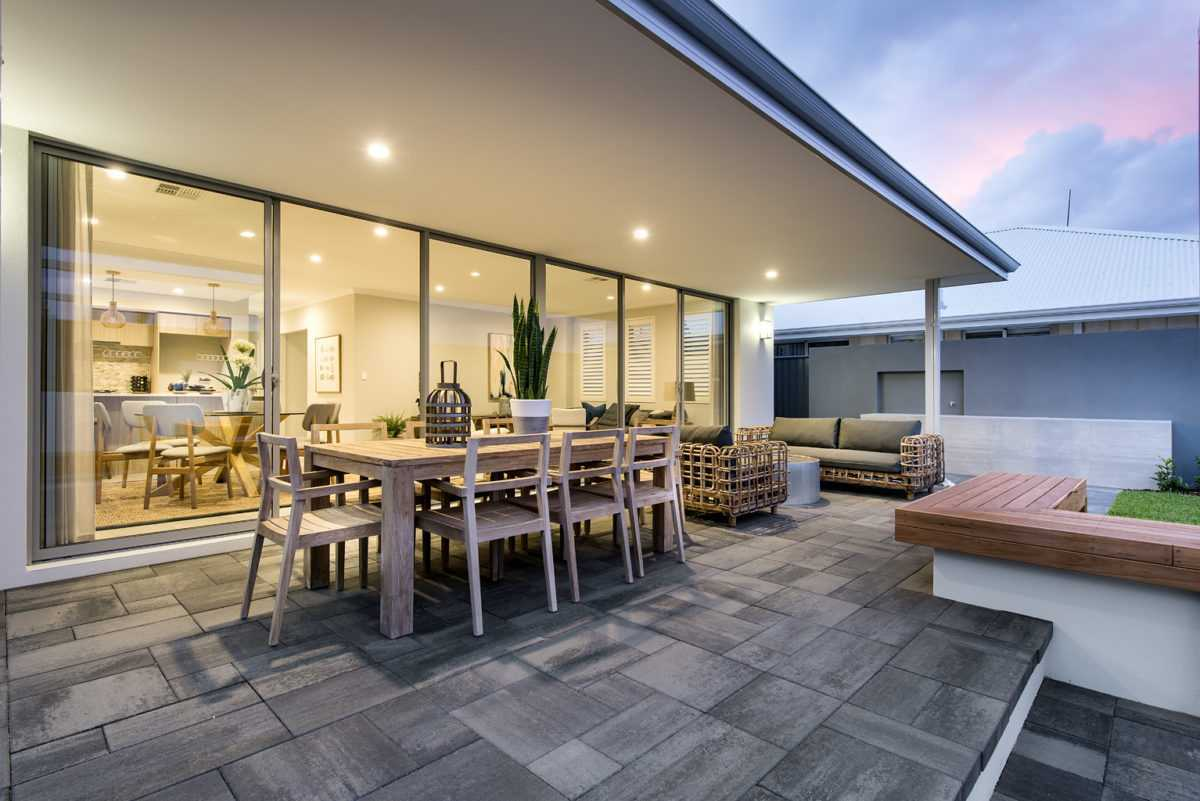 The Scullin two storey display home alfresco