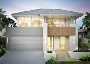 The Villeneuve two storey home design by Perceptions