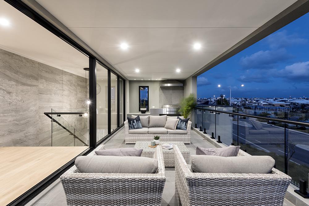 Custom Home Design balcony