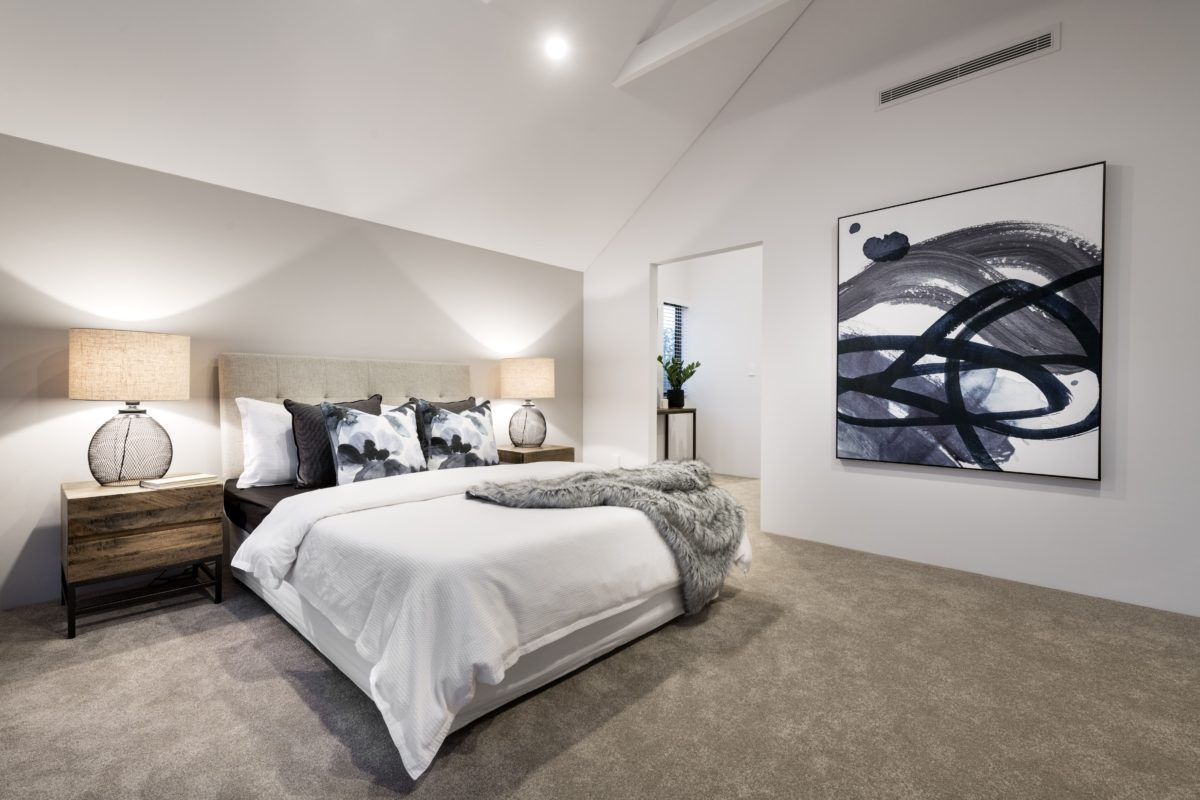 Inspirational master suite two storey home builder perth